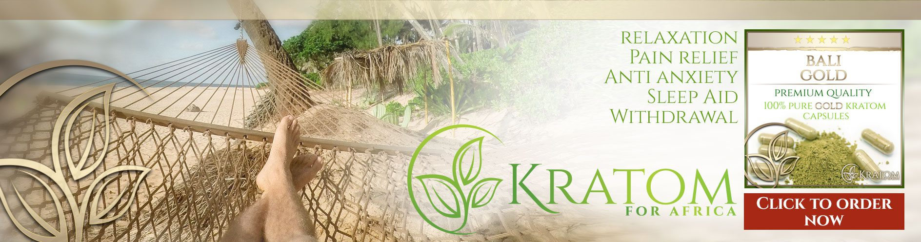 Welcome To The Future Of Pain Relief - KRATOM For South Africa
